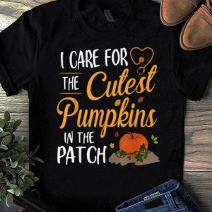Official Halloween Nurse I Care For The Cutest Pumpkins In The Patch shirt