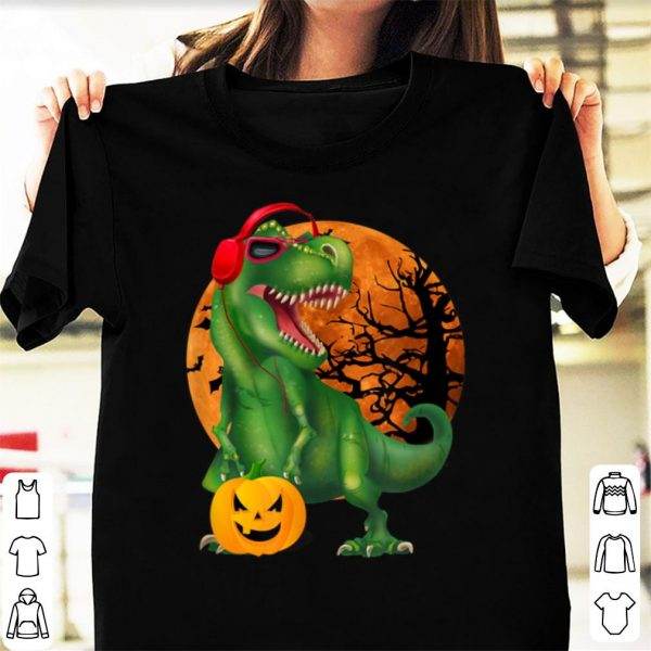 Official Halloween T Rex Dinosaur Halloween Pumpkin Gift Boys shirt