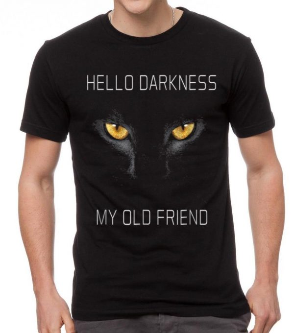 Official Hello Darkness My Old Friend Halloween Cat Gift shirt