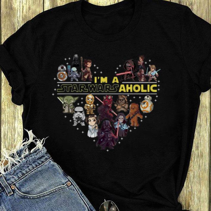 Official I m A Star Wars Aholic Star Wars Chibi Characters shirt 4 - Official I'm A Star Wars Aholic Star Wars Chibi Characters shirt