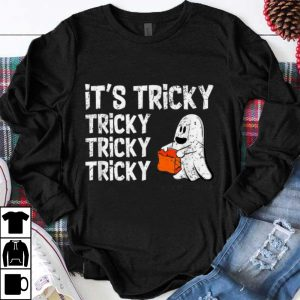 Official It's Tricky Funny Halloween Ghost Boo Treat Gift shirt