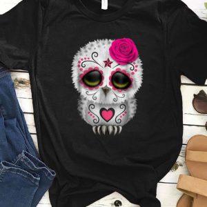 Official Owl Sugar Skull Trick Or Treat Pumpkin Halloween Boo shirt