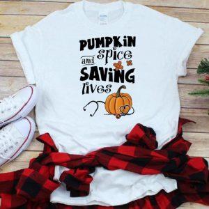 Official Pumpkin Spice And Saving Lives Halloween Doctor Nurse shirt