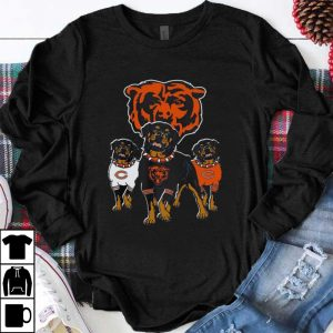 Official Rottweiler Dog And Logos Of The Chicago Bears shirt