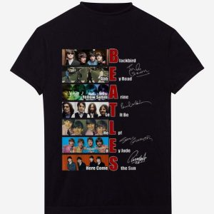 Official The Beatles Blackbird Abbey Road Let It Be Signatures shirt