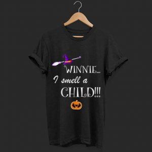 Official Winnie I Smell A Child Halloween Witch shirt