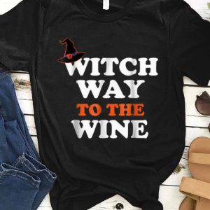 Official Witch Way To The Wine Halloween Witch Wine shirt