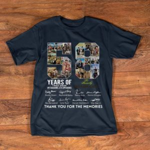 Original 58 Years Of The Beverly Hillbillies 1962 2020 Thank You For The Memories Signatures shirt