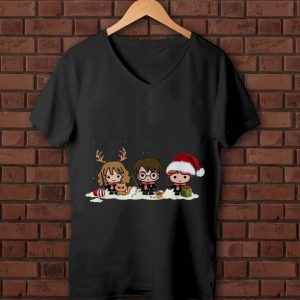 Original Harry Potter Chibi Harry Ron And Hermione Christmas shirt