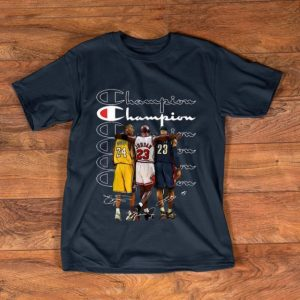 Original Kobe Bryant Michael Jordan and LeBron James Champion signatures shirt
