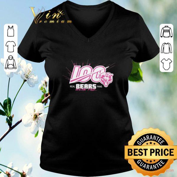 Original Pink Breast cancer awareness 100 real Bears fans wear shirt