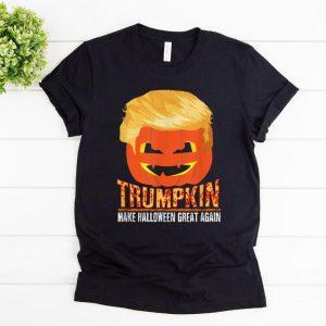 Original Trumpkin Pumpkin Politics Halloween Ironic Costume Fun Gift shirt