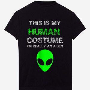 Premium Budget Alien Halloween Costume I'm Really An Alien shirt