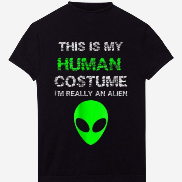 Premium Budget Alien Halloween Costume I'm Really An Alien shirt