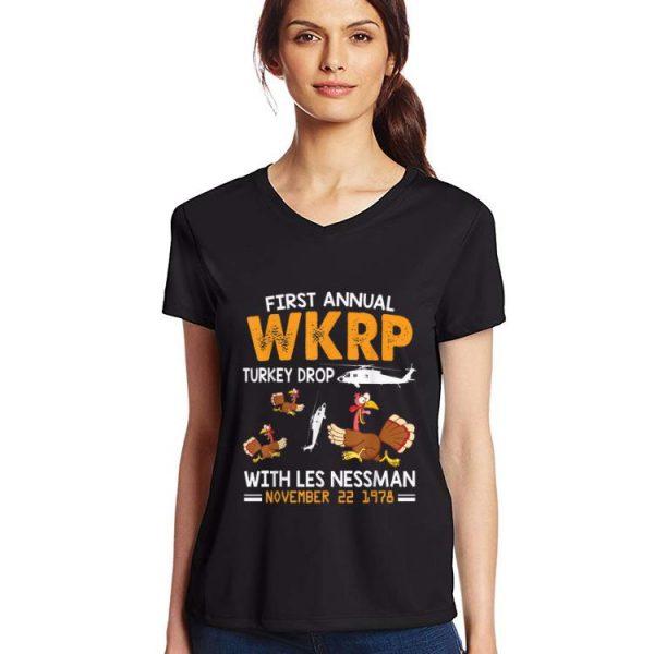 Premium First Annual Wkrp Turkey Drop With Les Nessman Nov 22 1978 shirt
