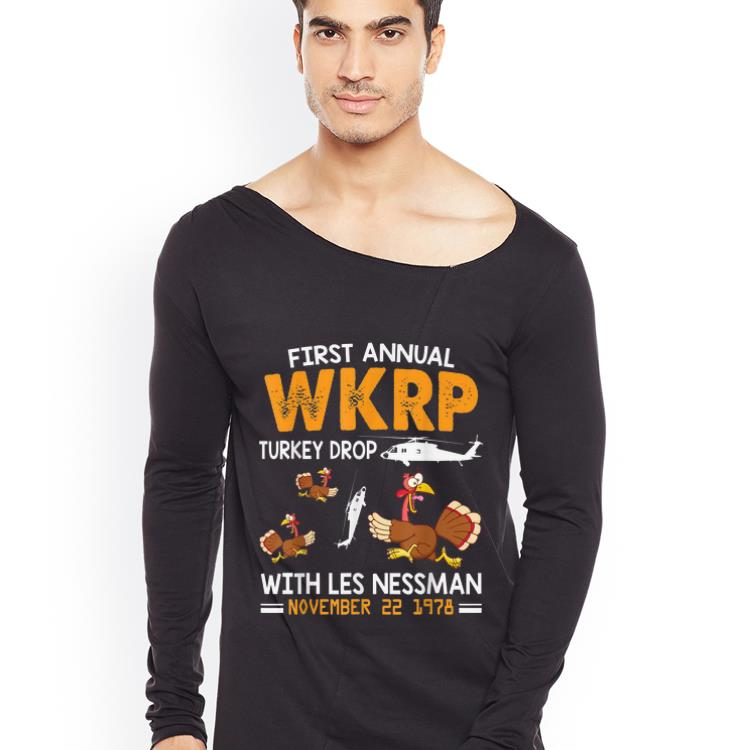 Premium First Annual Wkrp Turkey Drop With Les Nessman Nov 22 1978 shirt 4 - Premium First Annual Wkrp Turkey Drop With Les Nessman Nov 22 1978 shirt