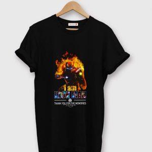 Premium I Am Iron Man Thank You For The Memories Avengers Endgame shirt