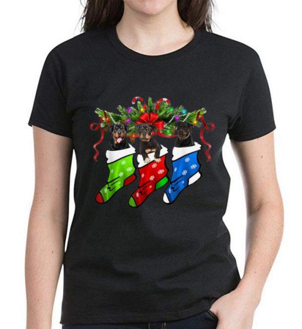 Premium Rottweiler In Sock Christmas Merry Xmas shirt