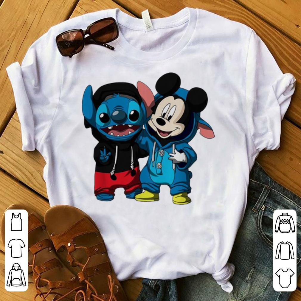 Pretty Baby Stitch And Mickey Mouse shirt 1 - Pretty Baby Stitch And Mickey Mouse shirt
