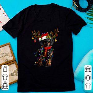 Pretty Dachshund Christmas Reindeer Christmas Lights shirt