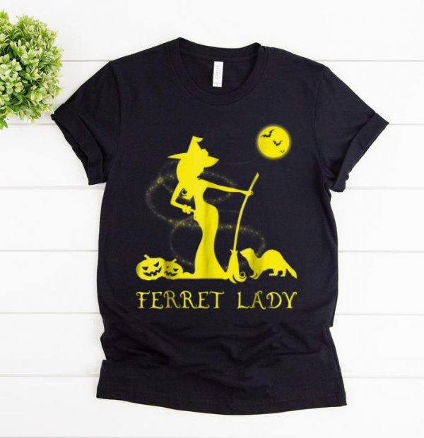 Pretty Ferret Lady Witch Lover Halloween Costume shirt