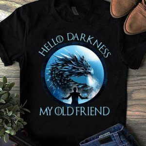 Pretty Game Of Thrones Night King Hello Darkness My Old Friend shirt