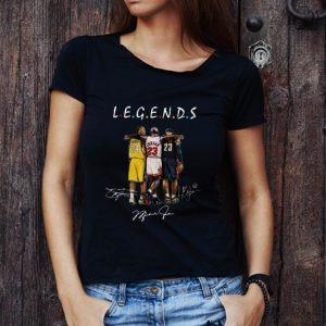 Pretty Kobe Bryant Michael Jordan and LeBron James Legends Friends Signatures shirt