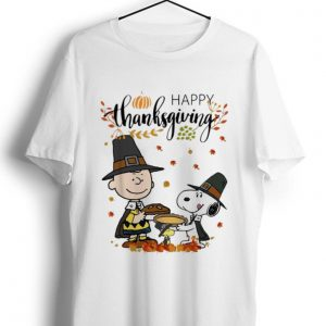 Pretty Peanuts Snoopy And Charlie Brown Happy Thanksgiving shirt