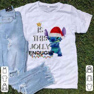 Pretty Stitch Is This Jolly Enough Christmas shirt