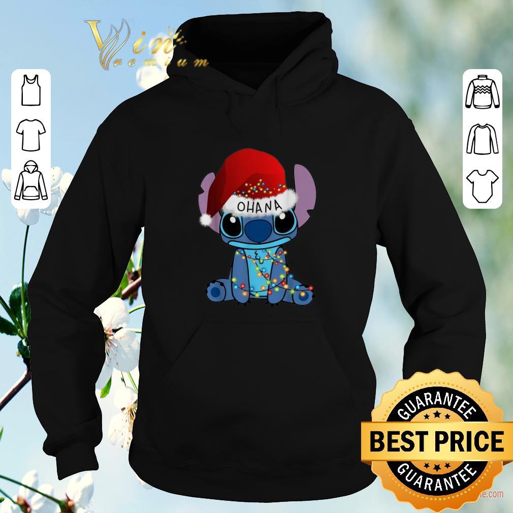 Pretty Stitch Ohana Christmas lights shirt sweater 4 - Pretty Stitch Ohana Christmas lights shirt sweater