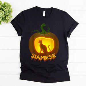 Pretty siamese Cat Pumpkin Halloween shirt