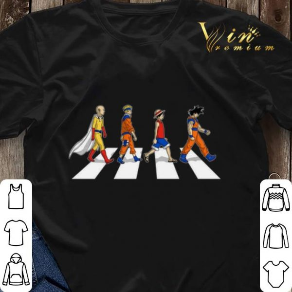 Saitama Naruto Luffy Goku Abbey Road shirt sweater