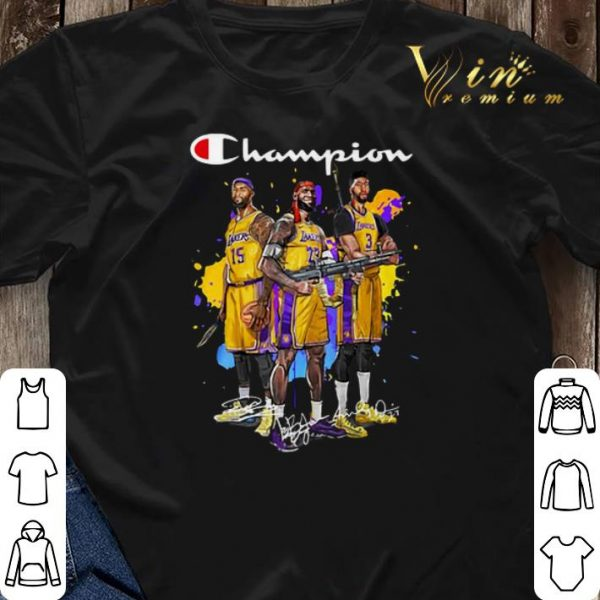 Signature Champion DeMarcus Cousins Lebron James Anthony Davis shirt