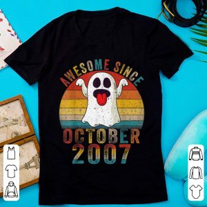 Top Awesome Since October 2007 Birthday Gift Boo Ghost Halloween shirt