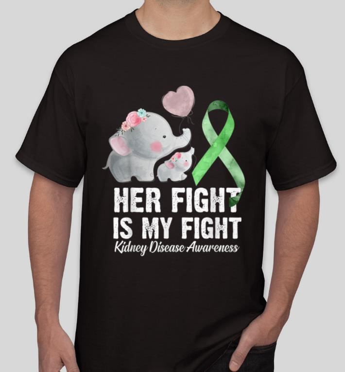 Top Green Ribbon Her Fight Is My Fight Kidney Disease Awareness shirt 4 - Top Green Ribbon Her Fight Is My Fight Kidney Disease Awareness shirt