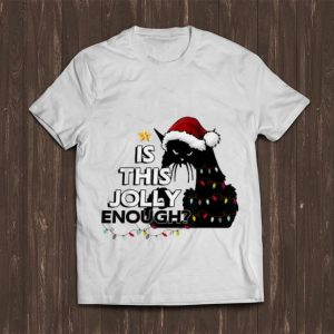 Top Is This Jolly Enough Black Cat Christmas Tree shirt
