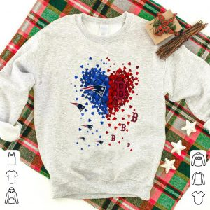 Top New England Patriots And Boston Red Sox Tiny Heart Shape NFL shirt