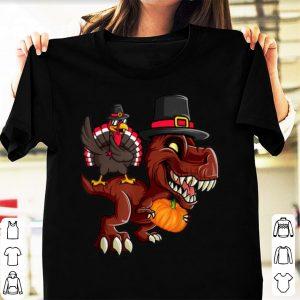 Top Thanksgiving Day T-rex Dinosaur Gobble Dabbing Turkey Lover shirt