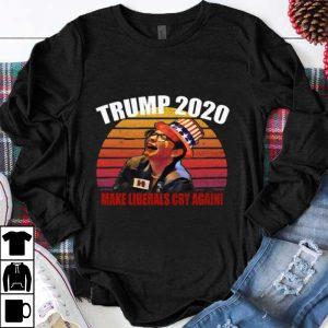 Top Trump 2020 Make Liberals Cry Again Vintage Sunset shirt