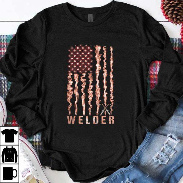 Top Welder American flag shirt