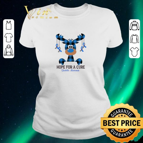 Awesome Christmas Reindeer hope for a cure Diabetes Awareness shirt