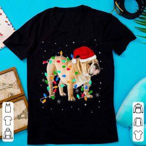 Awesome Funny English Bulldog Christmas Light Gifts Xmas shirt