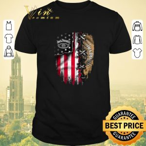 Awesome Jack Daniel's inside American flag shirt