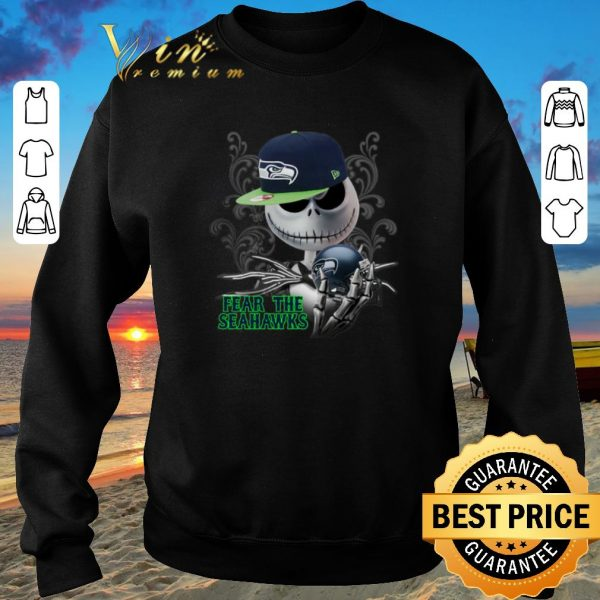 Awesome Jack Skellington fear the Seattle Seahawks shirt sweater