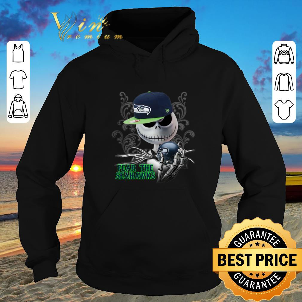 Awesome Jack Skellington fear the Seattle Seahawks shirt sweater 4 - Awesome Jack Skellington fear the Seattle Seahawks shirt sweater