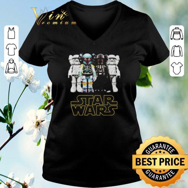 Awesome Kaws Star Wars Stormtrooper Boba Fett Darth Vader shirt sweater