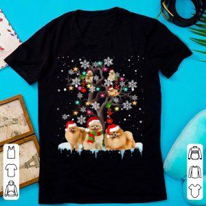 Awesome Pomeranian Christmas Tree Dog Lovers Chirstmas shirt