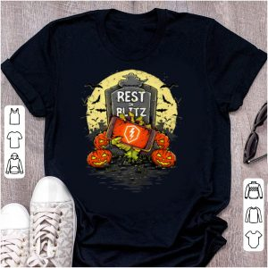 Awesome Rest In Blitz Zombie Halloween shirt
