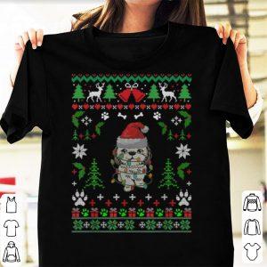 Awesome Shitzu Christmas Reindeer Pajamas Santa Hat Dog Lover shirt
