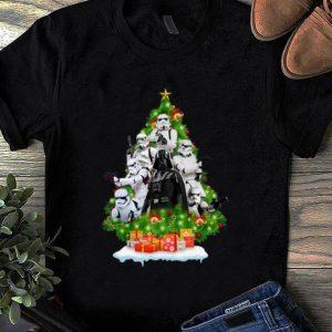 Awesome Star Wars Darth Vader And Stormtrooper Christmas Tree shirt